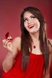 детеныши женщины jewellery коробки Стоковые Изображения RF