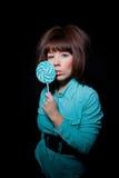 детеныши женщины lollipop Стоковые Фотографии RF