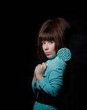 детеныши женщины lollipop Стоковое Изображение RF