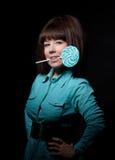 детеныши женщины lollipop Стоковая Фотография RF