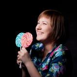 детеныши женщины lollipop Стоковые Изображения RF