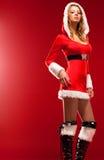 детеныши женщины santa одежды сексуальные Стоковая Фотография RF