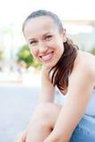 детеныши женщины smiley Стоковое Изображение