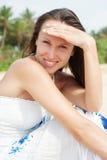детеныши женщины smiley Стоковые Изображения RF