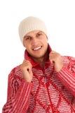 детеныши зимы человека Стоковая Фотография