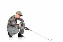 детеныши игрока в гольф мыжские стоковое изображение