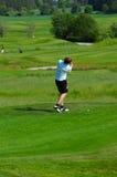 детеныши игрока в гольф Стоковое Фото