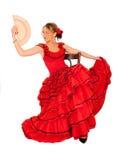 детеныши испанской повелительницы платья красные Стоковые Фотографии RF