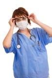 детеныши кавказского доктора женские медицинские стоковая фотография