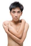 детеныши китайского портрета человека без рубашки Стоковая Фотография RF