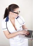 детеныши красивейшего доктора женские Стоковое Изображение