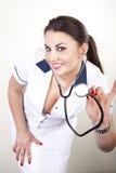 детеныши красивейшего доктора женские Стоковое фото RF