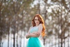 детеныши красивейших волос девушки красные Стоковое Изображение RF