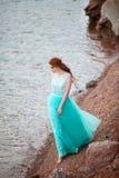 детеныши красивейших волос девушки красные Стоковое Фото