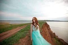 детеныши красивейших волос девушки красные Стоковая Фотография