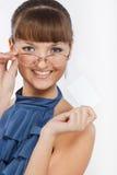 детеныши красивейших выставок девушки визитной карточки ся Стоковое Изображение RF