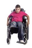 детеныши кресло-коляскы мальчика стоковые фотографии rf