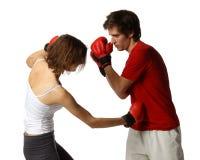 детеныши людей перчаток бой Стоковая Фотография RF