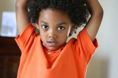 детеныши мальчика милые стоковое изображение rf