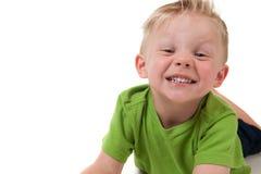 детеныши мальчика счастливые белые Стоковые Изображения RF