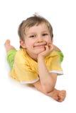 детеныши мальчика счастливые стоковые фото
