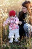 детеныши мати лужка младенца Стоковое фото RF