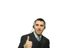 детеныши микрофона человека наушников Стоковое фото RF