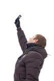 детеныши мобильного телефона человека Стоковые Фотографии RF