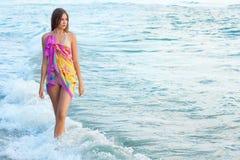 детеныши моря девушки Стоковая Фотография
