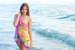 детеныши моря девушки Стоковая Фотография RF