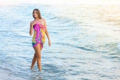 детеныши моря девушки Стоковое фото RF
