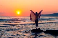 детеныши моря девушки Стоковое Изображение RF