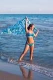 детеныши моря девушки Стоковое Изображение