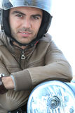 детеныши мотовелосипеда человека Стоковое Фото