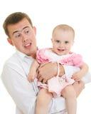 детеныши отца младенца стоковое изображение