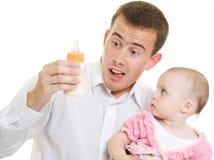 детеныши отца младенца стоковое изображение rf
