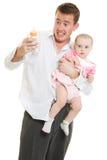детеныши отца младенца стоковая фотография rf