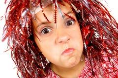детеныши парика девушки масленицы Стоковое Фото