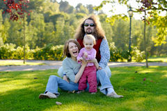 детеныши парка семьи Стоковое Фото