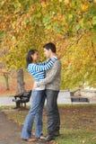 детеныши пар романтичные Стоковое Изображение