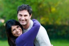 детеныши пар счастливые сь Стоковые Изображения RF