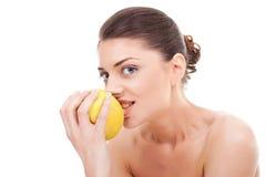 детеныши повелительницы еды яблока жизнерадостные Стоковые Фото