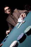 детеныши покера игрока Стоковое фото RF