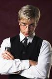 детеныши портрета бизнесмена серьезные Стоковая Фотография RF