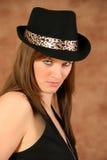 детеныши портрета шлема девушки Стоковое Изображение RF