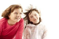 детеныши портрета 2 девушок Стоковые Изображения