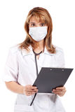 детеныши привлекательного доктора женские Стоковое фото RF