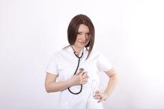 детеныши привлекательного доктора женские Стоковые Изображения