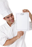 детеныши привлекательного меню человека шеф-повара непальские Стоковое Изображение RF