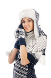 детеныши привлекательной девушки одежд родние Стоковое Фото